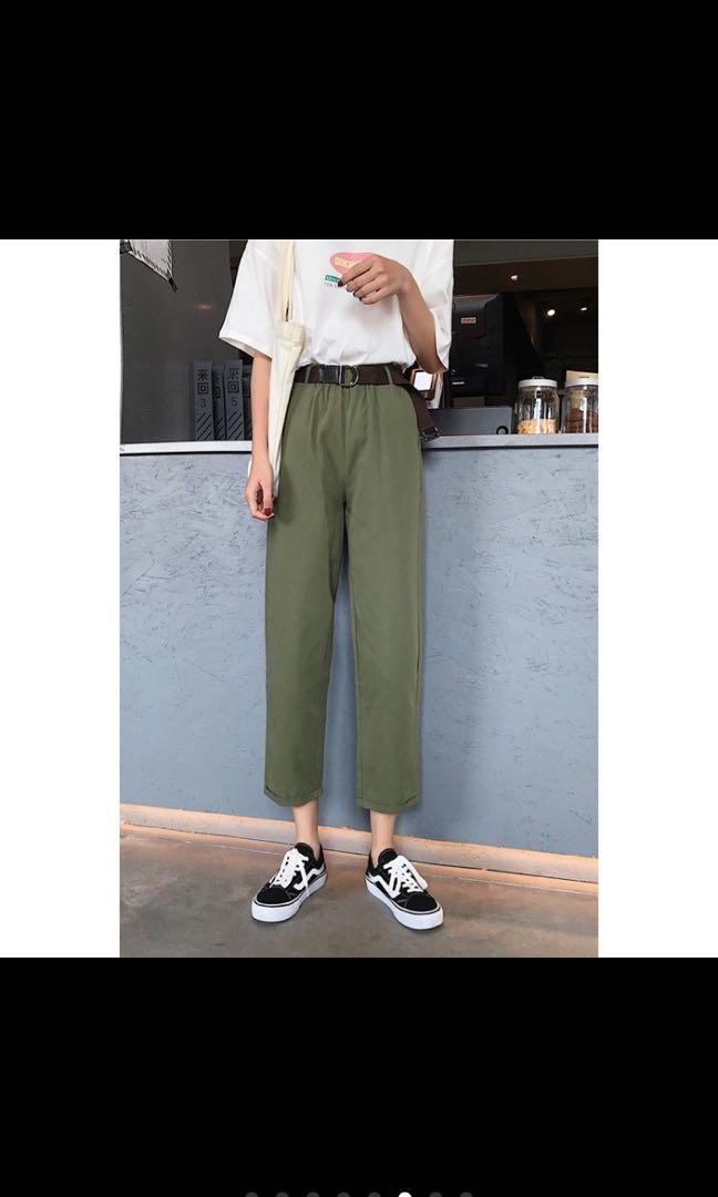 [二手]軍綠色長褲 M號
