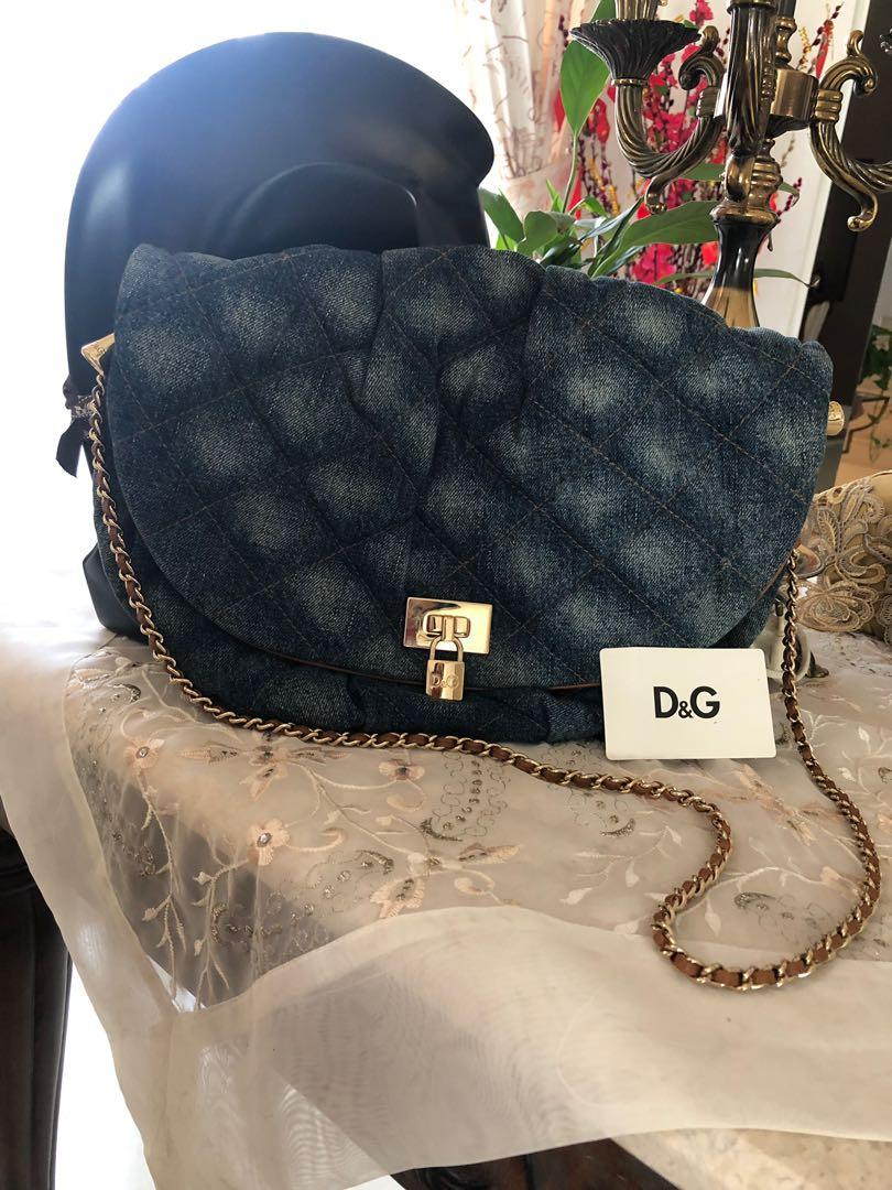 Authentic D&G Denim Bag