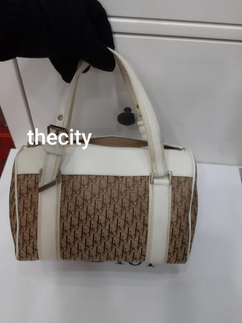 AUTHENTIC DIOR BOSTON SPEEDY BAG - MONOGRAM LOGO DESIGN - OVERALL IN VERY GOOD CONDITION,  CLEAN INTERIOR - (DIOR MONOGRAM LOGO DESIGN BAGS NOW RETAIL AROUND RM 10,000+)