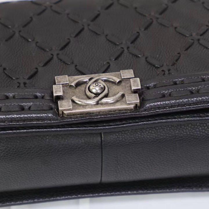 Authentic Pre-loved Chanel Le Boy Bag Old Medium Calfskin