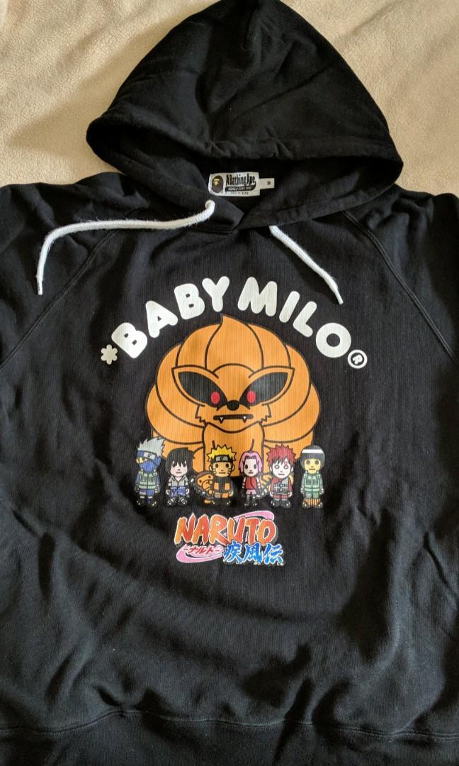 A Bathing Ape X Naruto x Baby Milo Tee Limited Edtion Bape Naruto RARE White