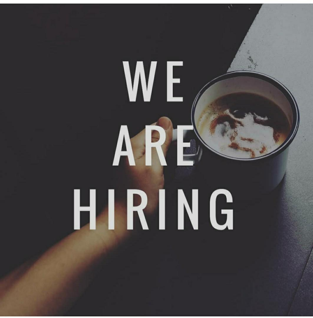 Barista, frontline crew, waiter diperlukan. FEMALE are welcome