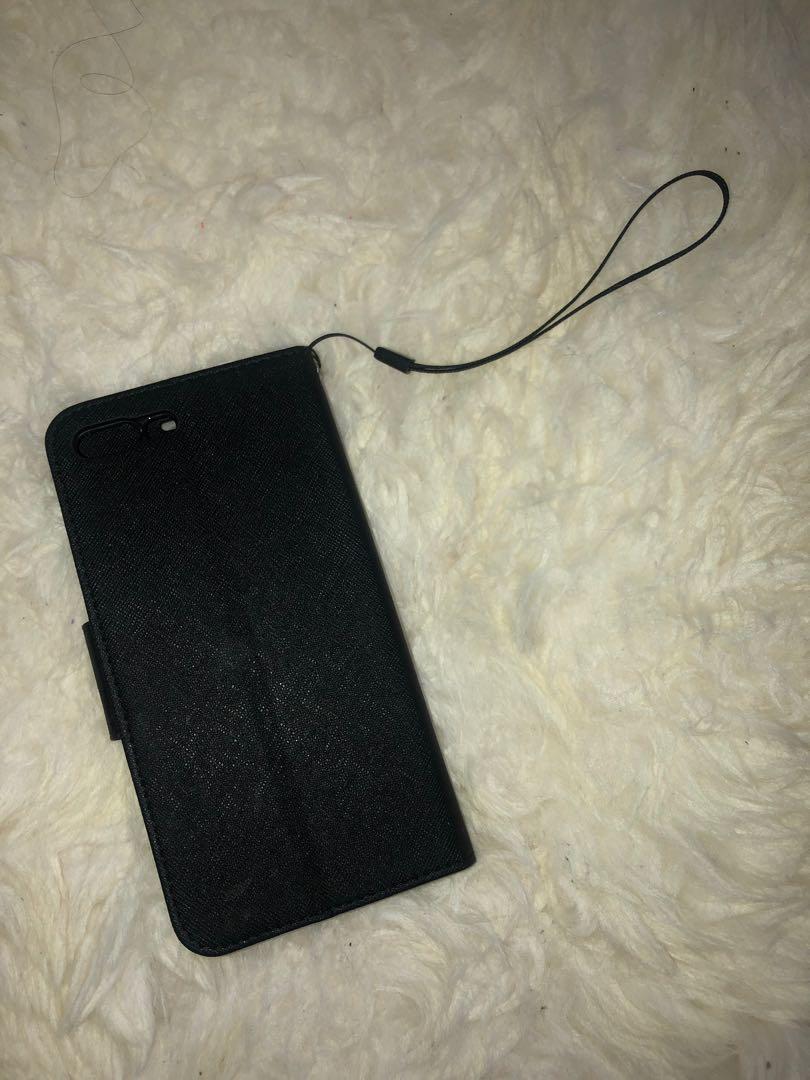 BLACK iPHONE 7 PLUS & iPHONE 8 PLUS WALLET STYLE PHONE CASE