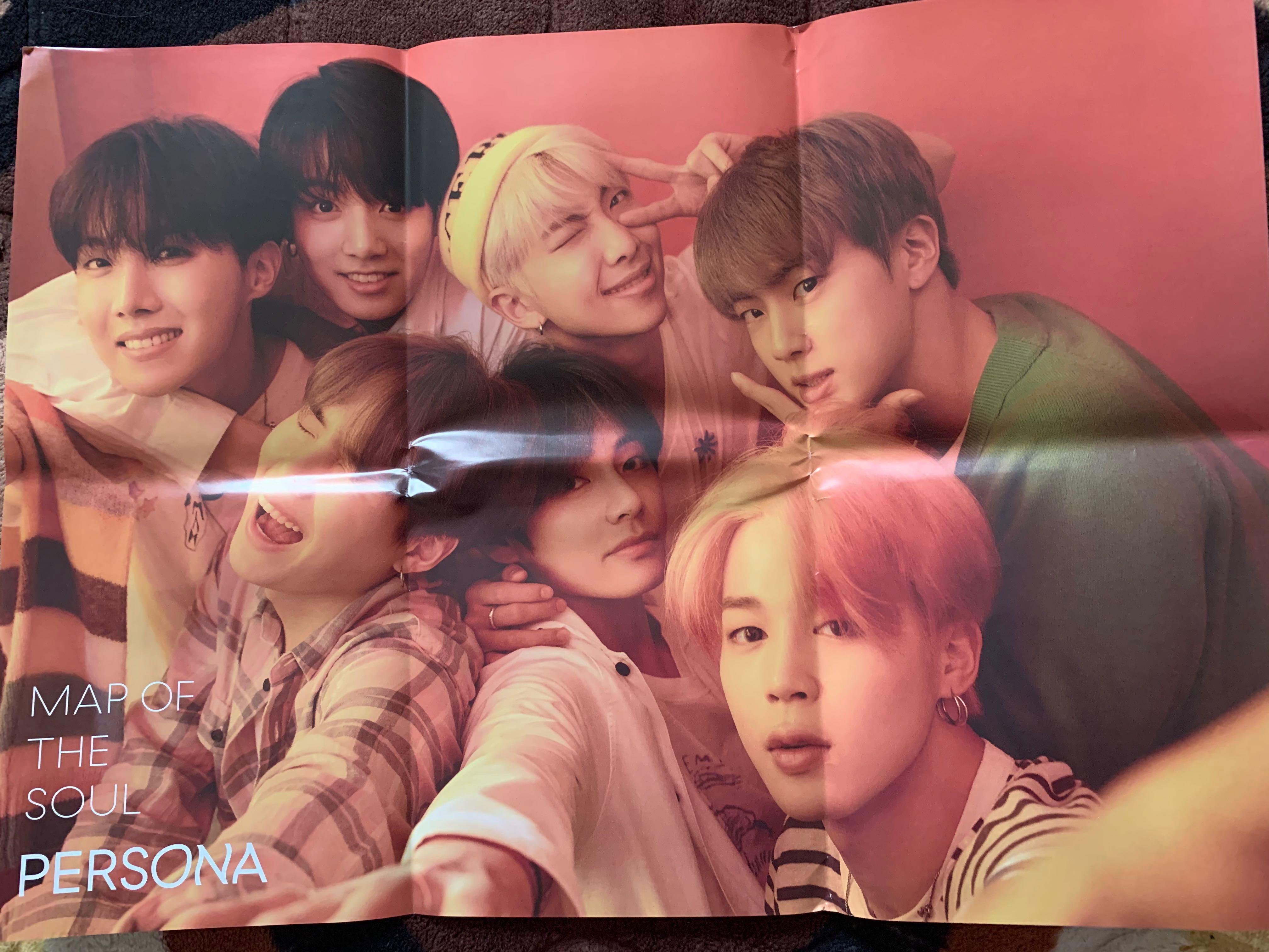 #BTS Original Poster (MOTS: Ver 1) [Folded] - Never use