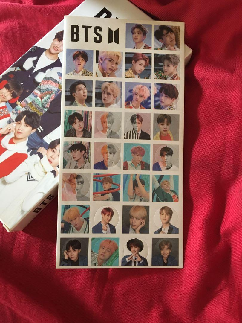 BTS post cards (stickers included)