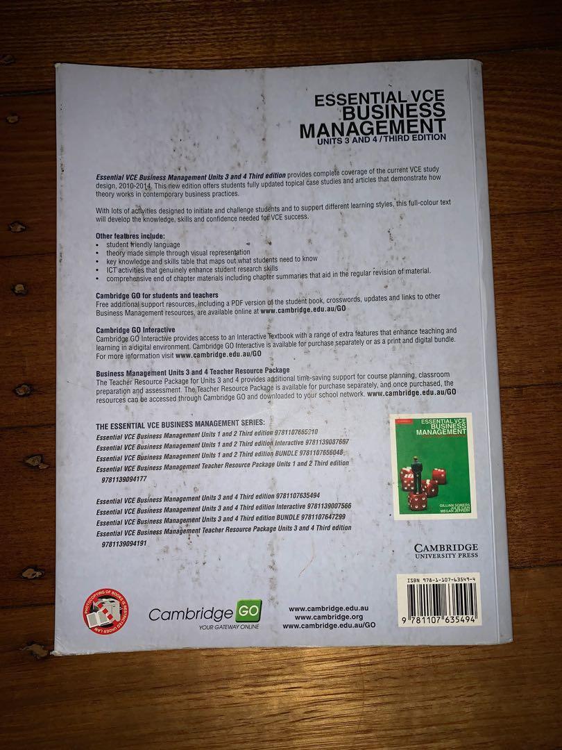 Cambridge Essential VCE Business Management Units 3/4