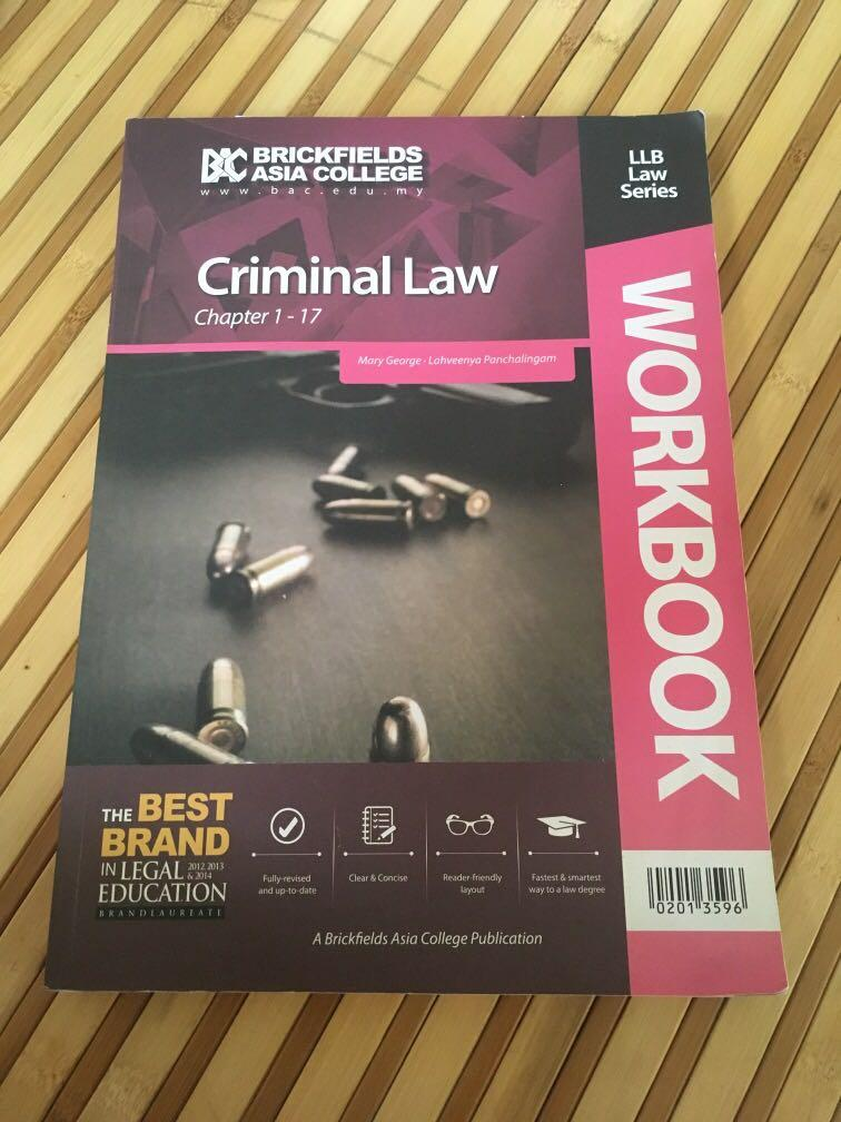 Criminal law book - workbook