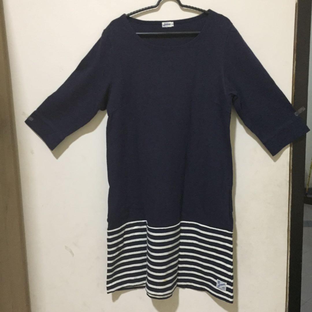 Dress navy stripe