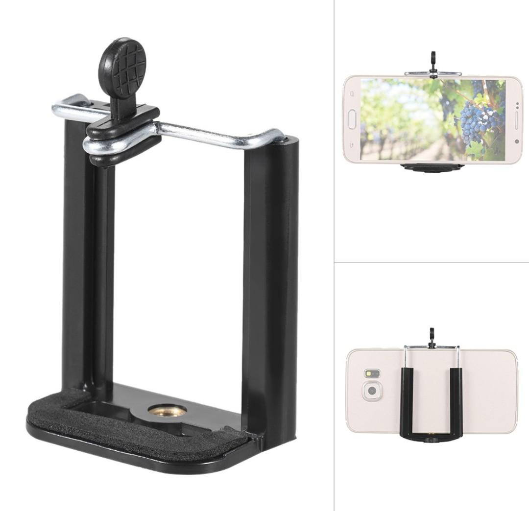 expandable phone holder clip with 1/4 inch screw hole