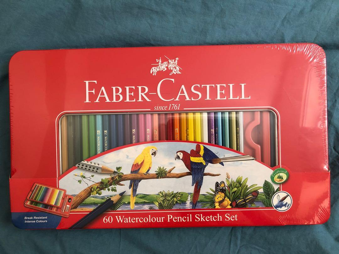 Faber Castell 60 watercolour pencil sketch set 60色水溶性木顏色筆 全新未開封
