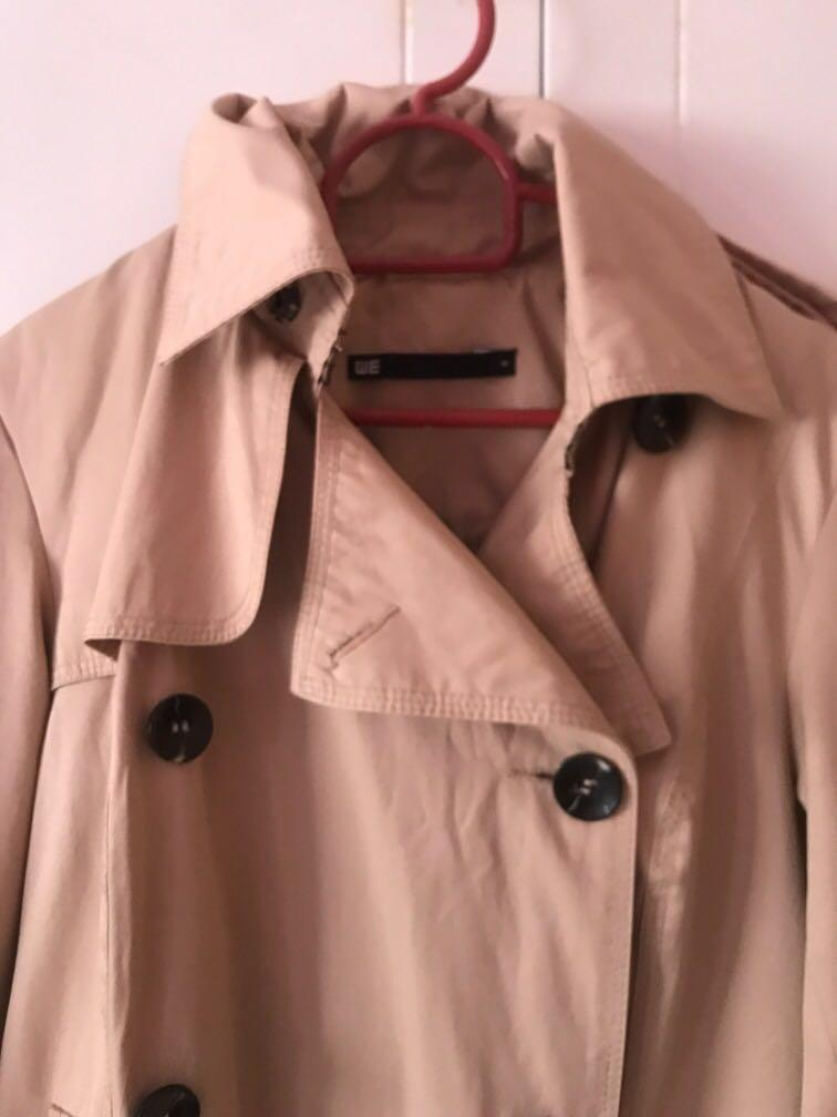 (FOR RENT) Nude Trench Coat