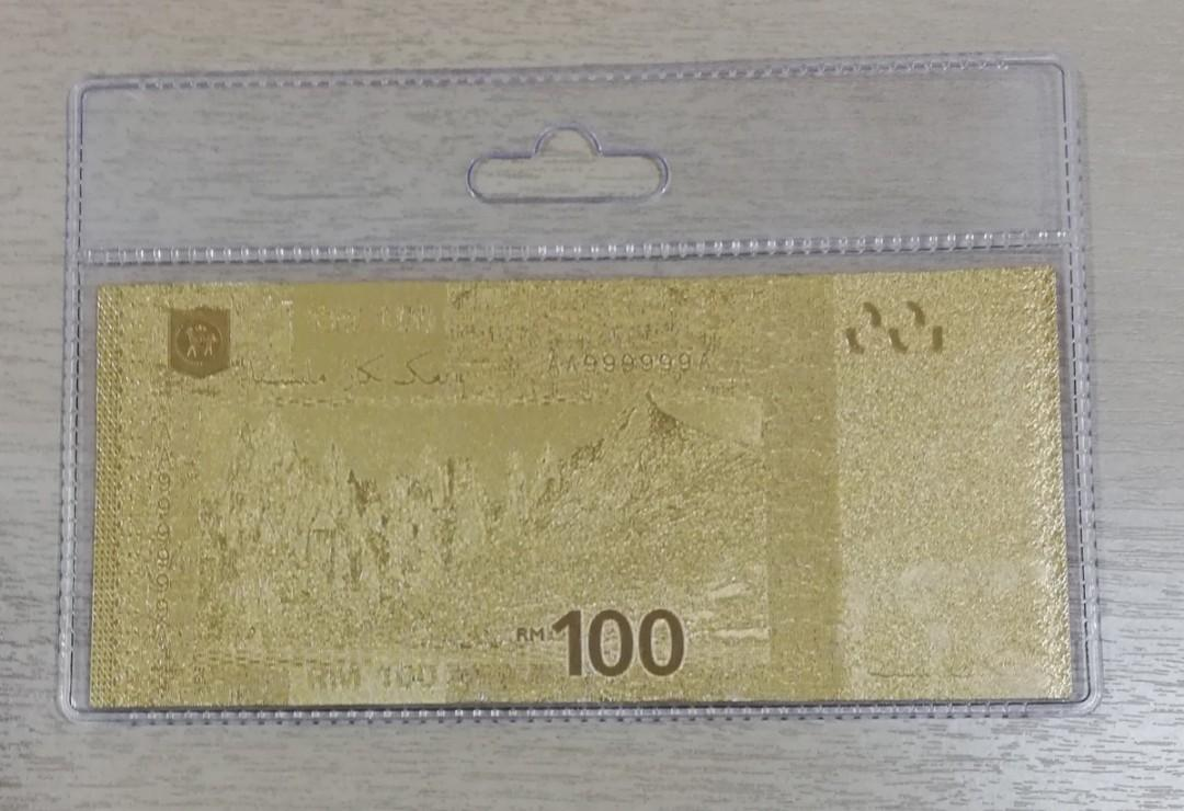 Gold rm100 note