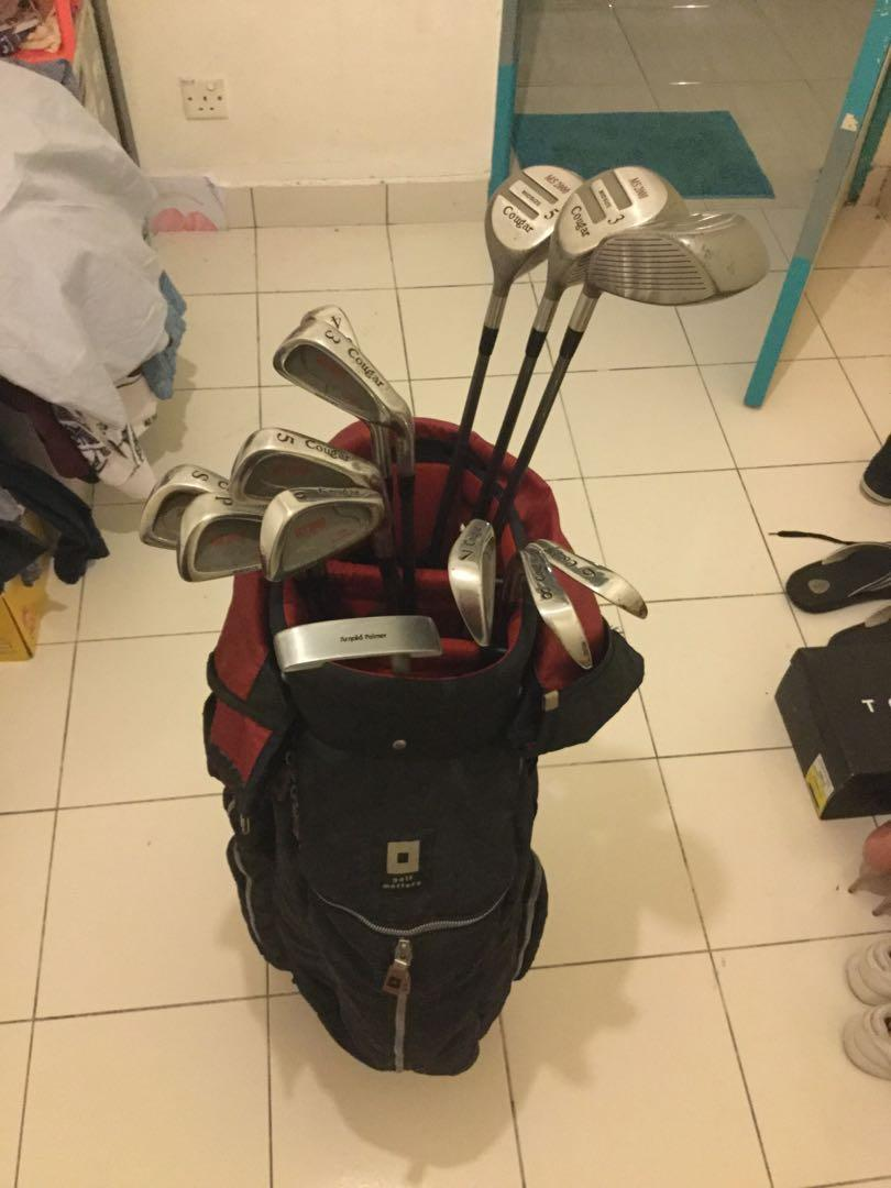 Golf set with bag Brand cougar