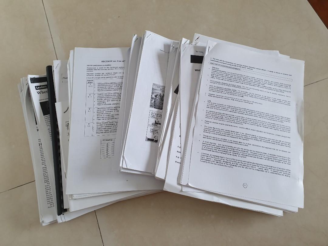 H1 General Paper GP Hwa Chong Notes Assorted