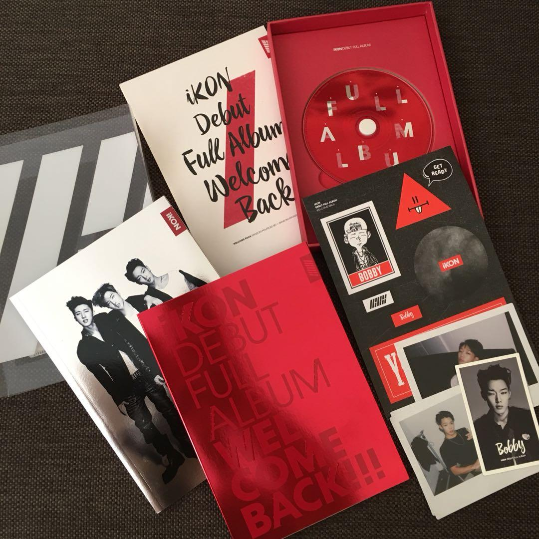 iKON Welcome Back Full Debut Album (BOBBY EDITION!) Red