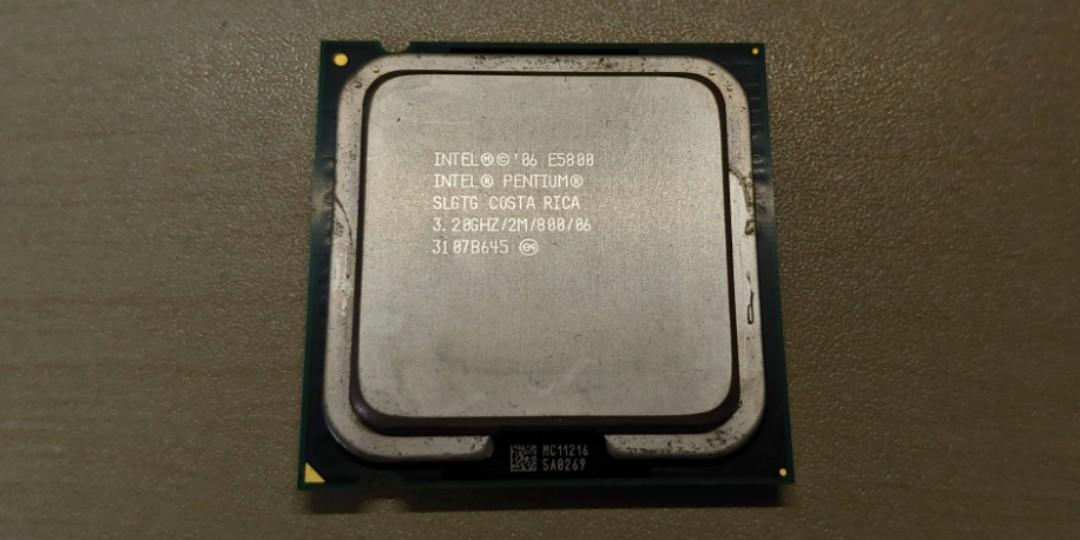 Intel Pentium E5800-3.2 GHz Dual-Core  3.2 GHZ 2M// 800 SLGTG CPU ONLY