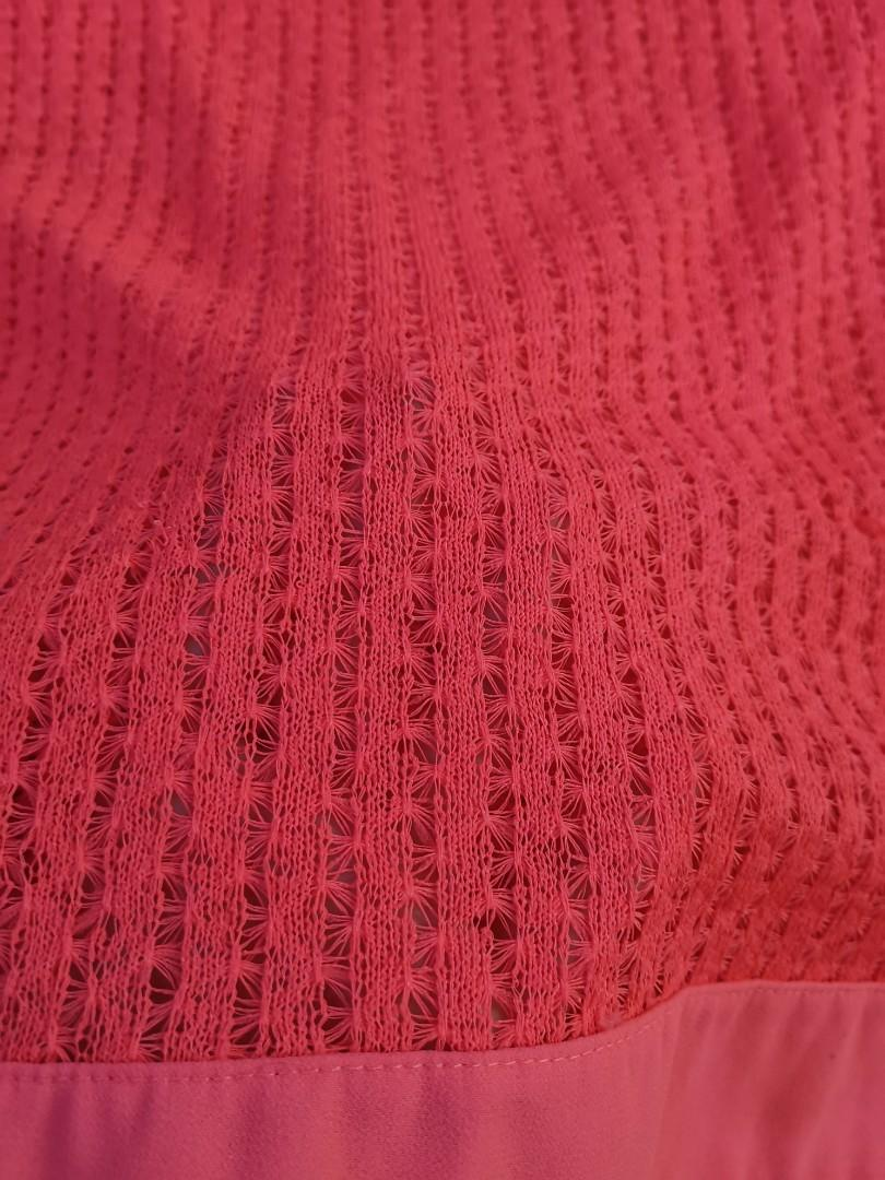 Bright Pink Knitted Top
