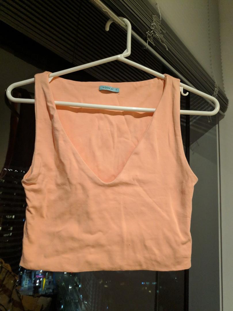KOOKAI Peach Pink Sleeveless Crop Top