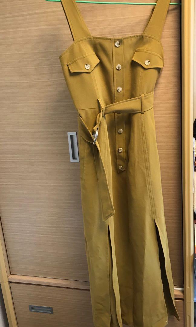 Lady mint 芥黃長裙