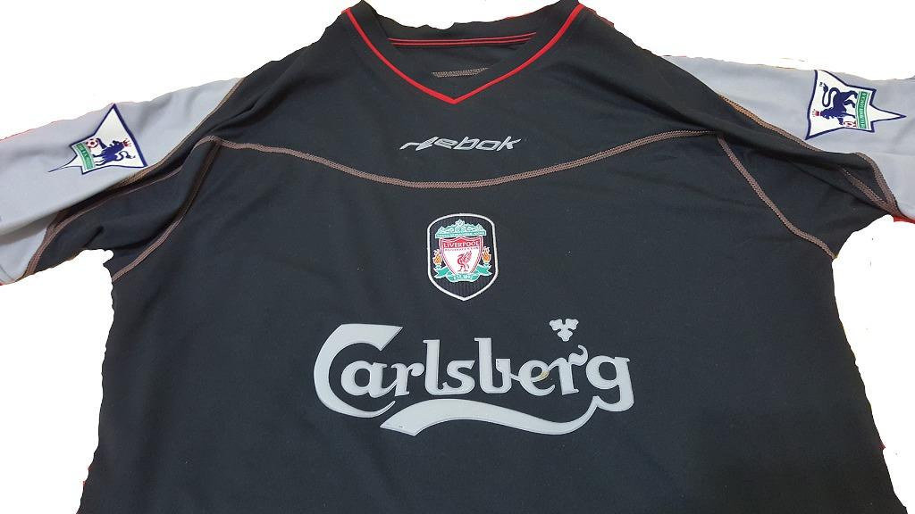 Liverpool FC 2002-2003 Away Jersey - Black with Player ID