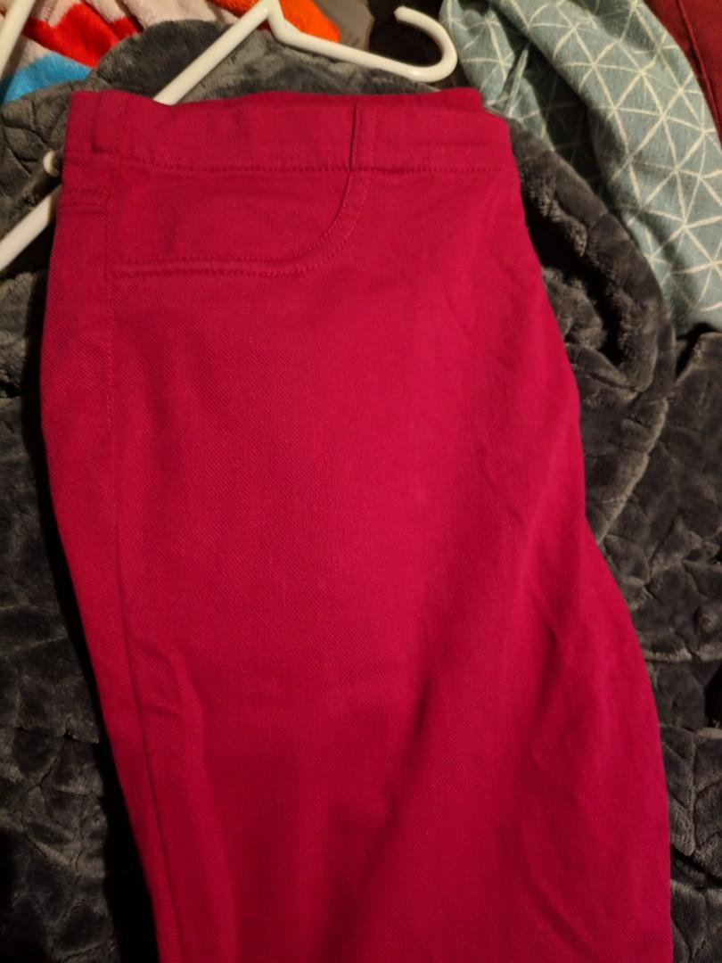 Maroon Red Stretchy Pants