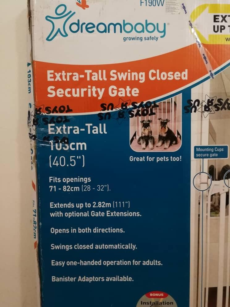 New Dream Baby Safety Gate 71-82cm Swing Closed Extra Tall