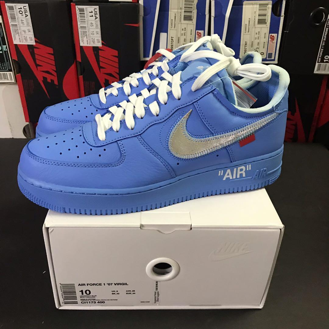 Nike x Off White Air Force 1 MCA size