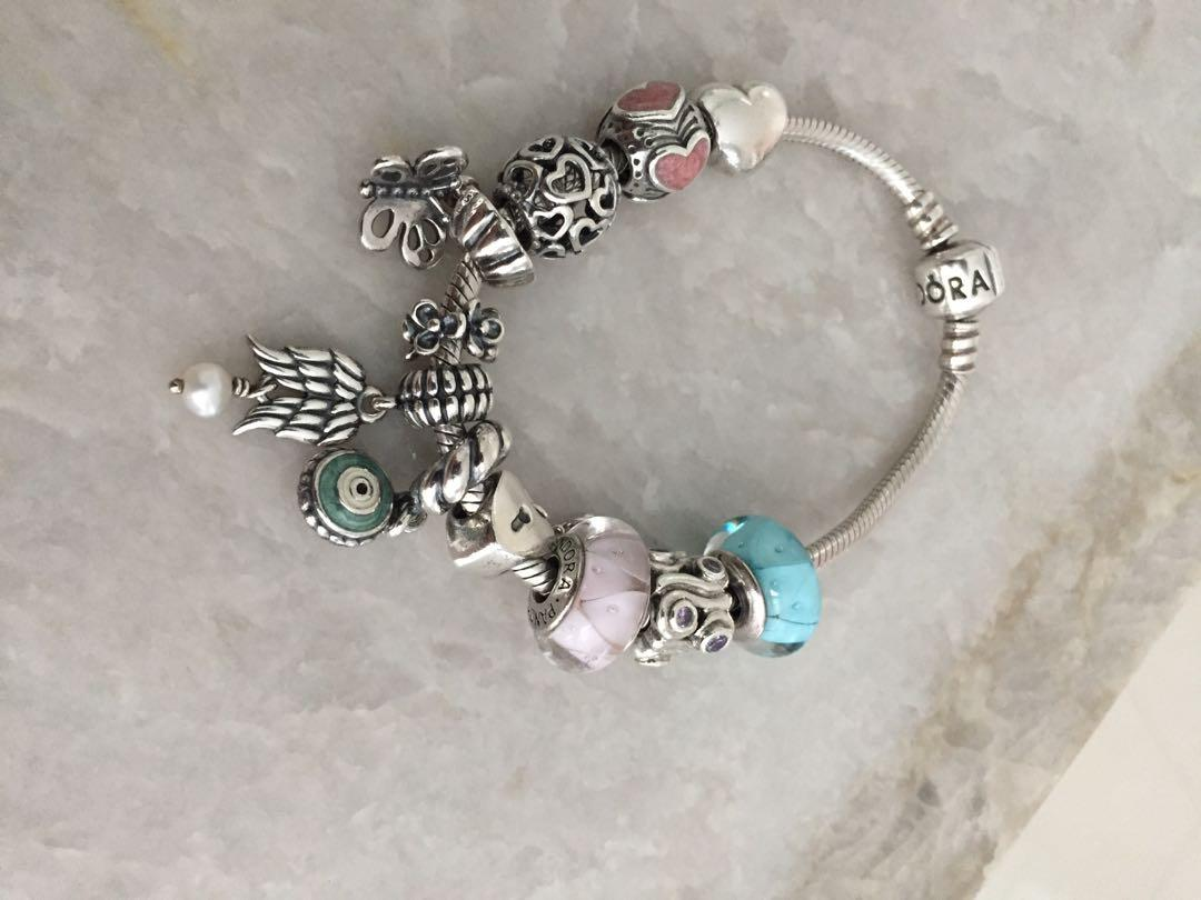 Pandora Bracelet and Charms (Sold Together or Separately) See Description for Pricing