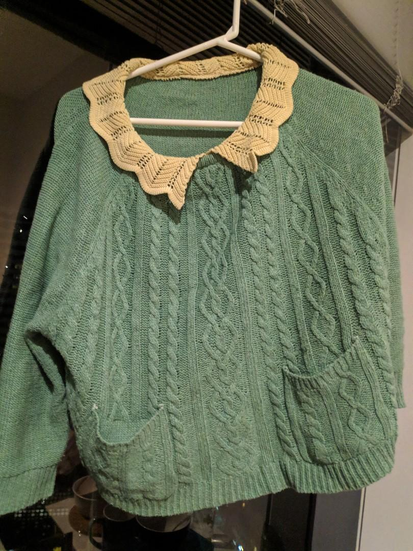 Pastel Green Knit