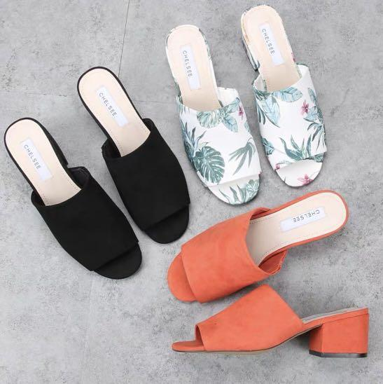 Plain Mules / Heels / Platforms / Slip