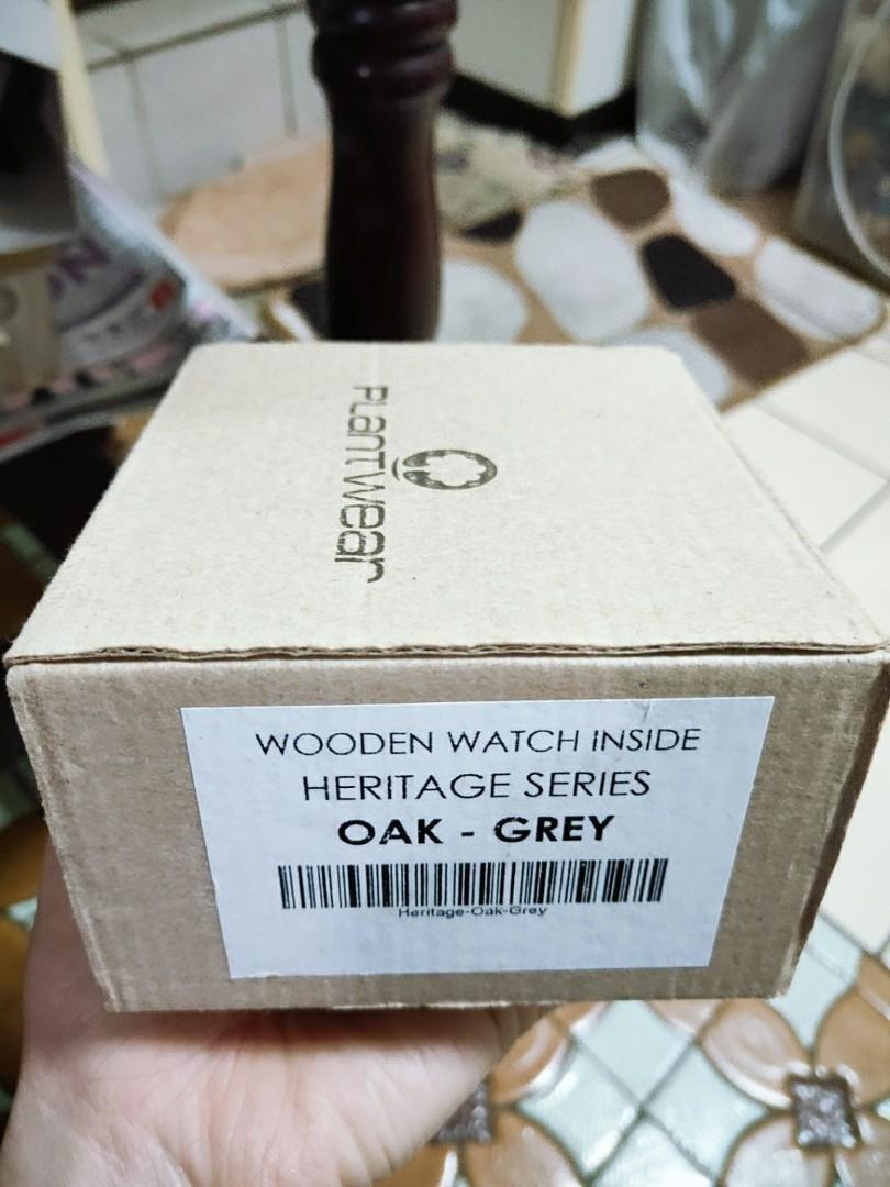 【原價5980】Plantwear 歐洲手工製實木手錶-Heritage series-銀石灰-橡木(42mm)