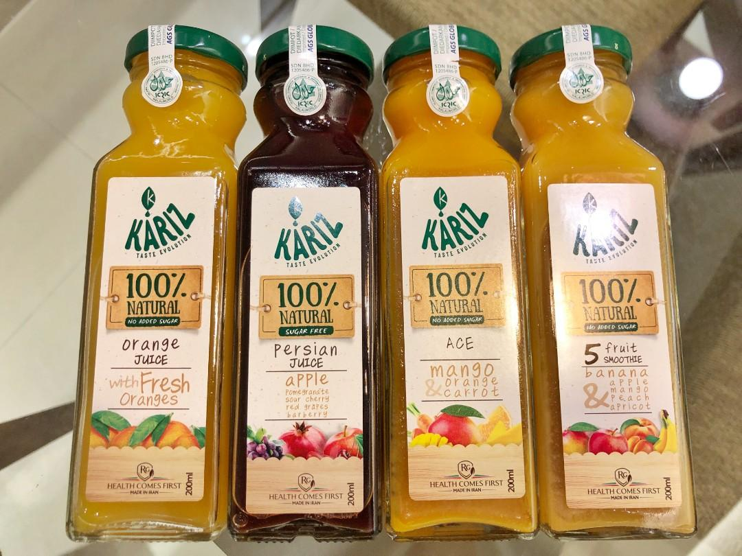 *Reduced price* Premium 100% Fruit Pulp Juice and 5 Fruit Banana Smoothie - No sugar added (Imported)