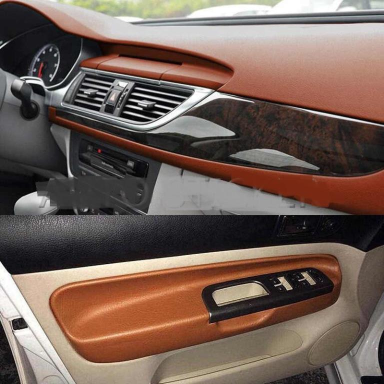 Premium Leather Adhesive Vinyl Wrap for Vehicle Interior(60''x20'')