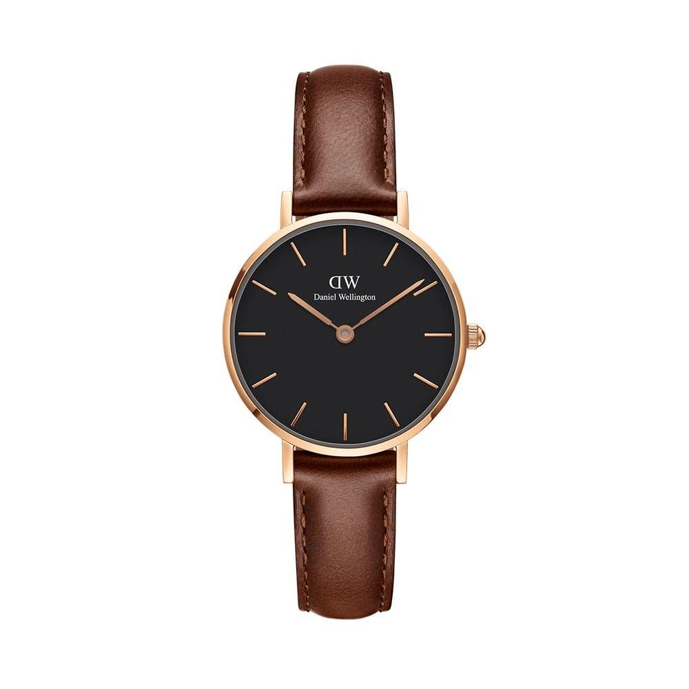 Premium Quality DW RG/BRL BLACK Small-Size 28mm Quartz Ladies Watch Wrist Watch + Bangle + Ring