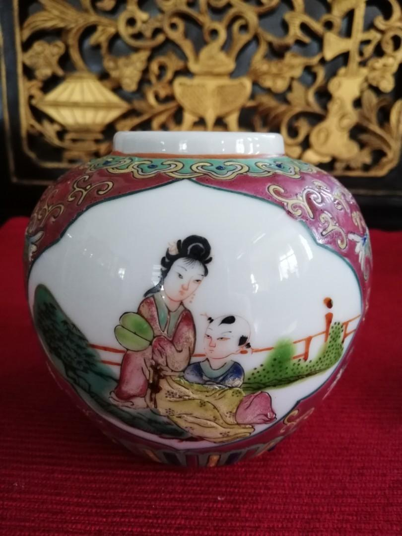 Republic Era Chinese tea caddy