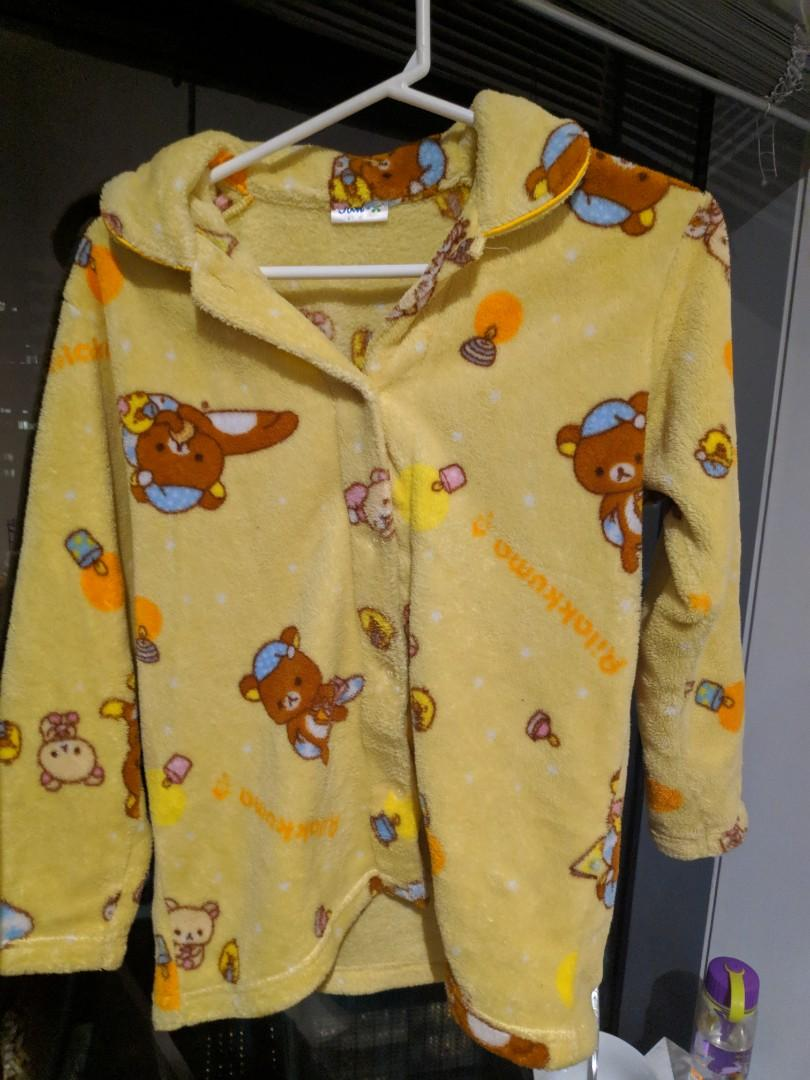 Rilakkuma Pajama Top Furry Fleece from Japan