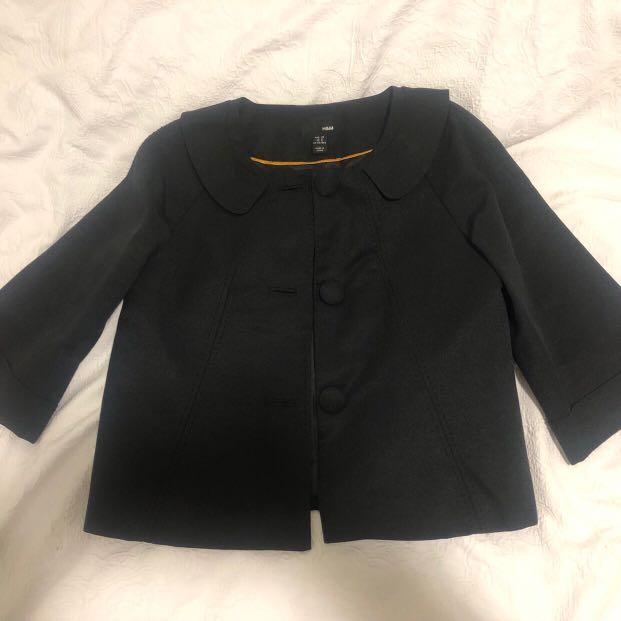 Sailor/Japanese Style Black and Yellow 3 Button H&M Blazer Size Women's US 8🔥