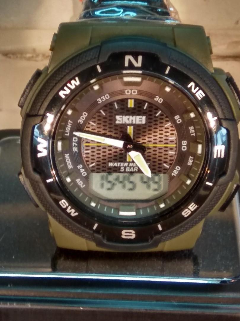 SKMEI雙顯電子錶