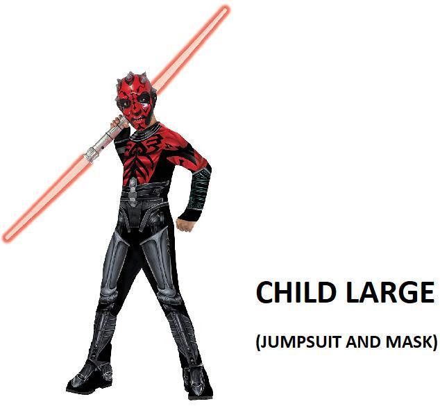 Star Wars The Clone Wars Darth Maul Halloween Costume (Size L)