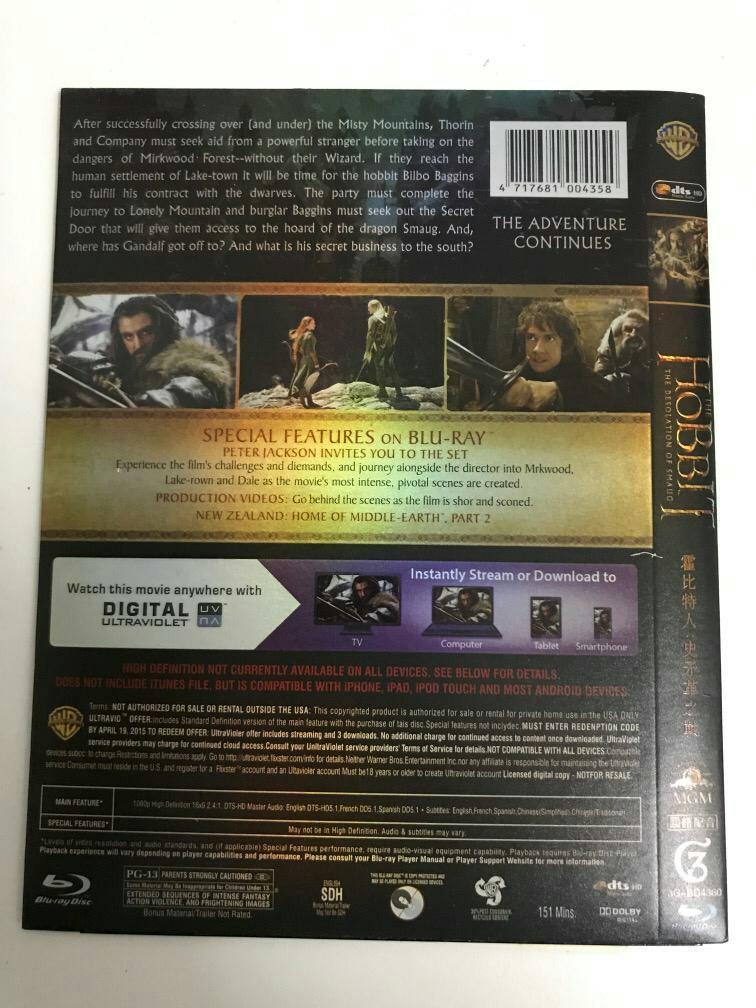 THE Hobbit The desolation of smaug movie dvd