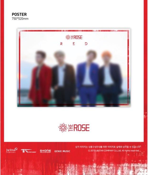 THE ROSE [RED] 3rd Single Mini Kpop CD Album Sealed With Full Contents + Folded Poster