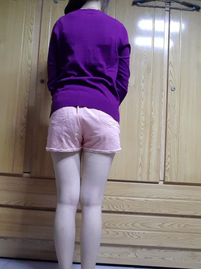 棉感V領針織外套