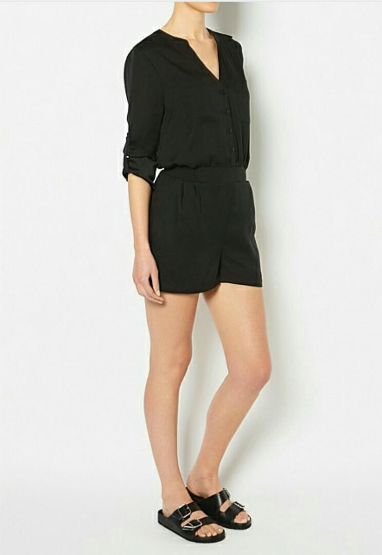 Witchery Black Tab Playsuit, size 16 BRAND NEW RRP $129.95