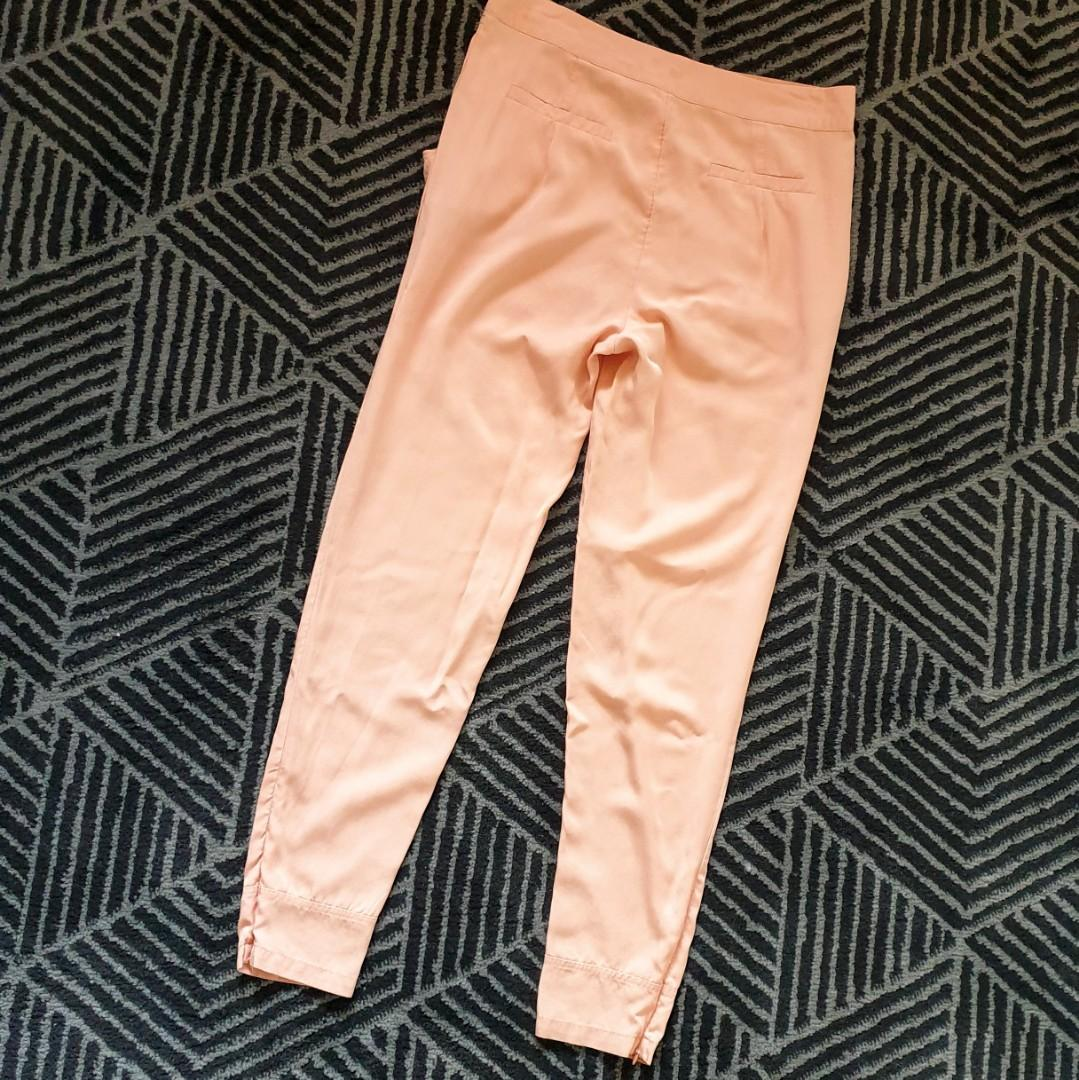 Women's size 10 'COOPER ST' Stunning apricot zip ankle pants trousers - AS NEW