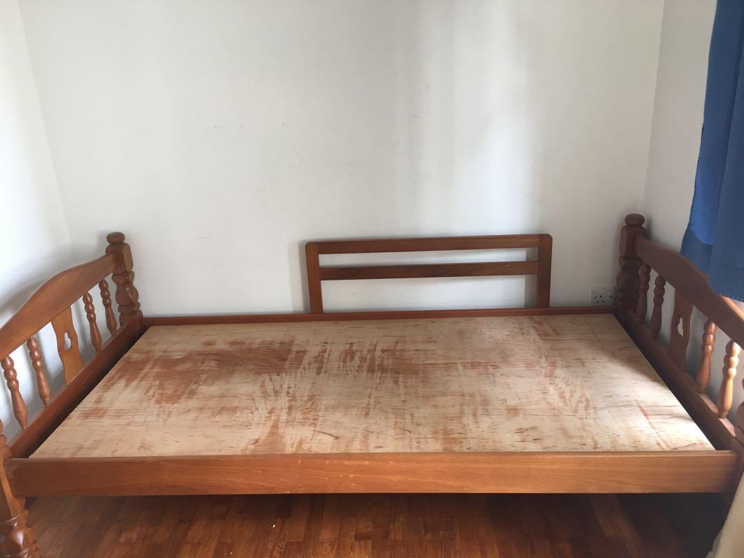 Wooden Bed Frame - size Single