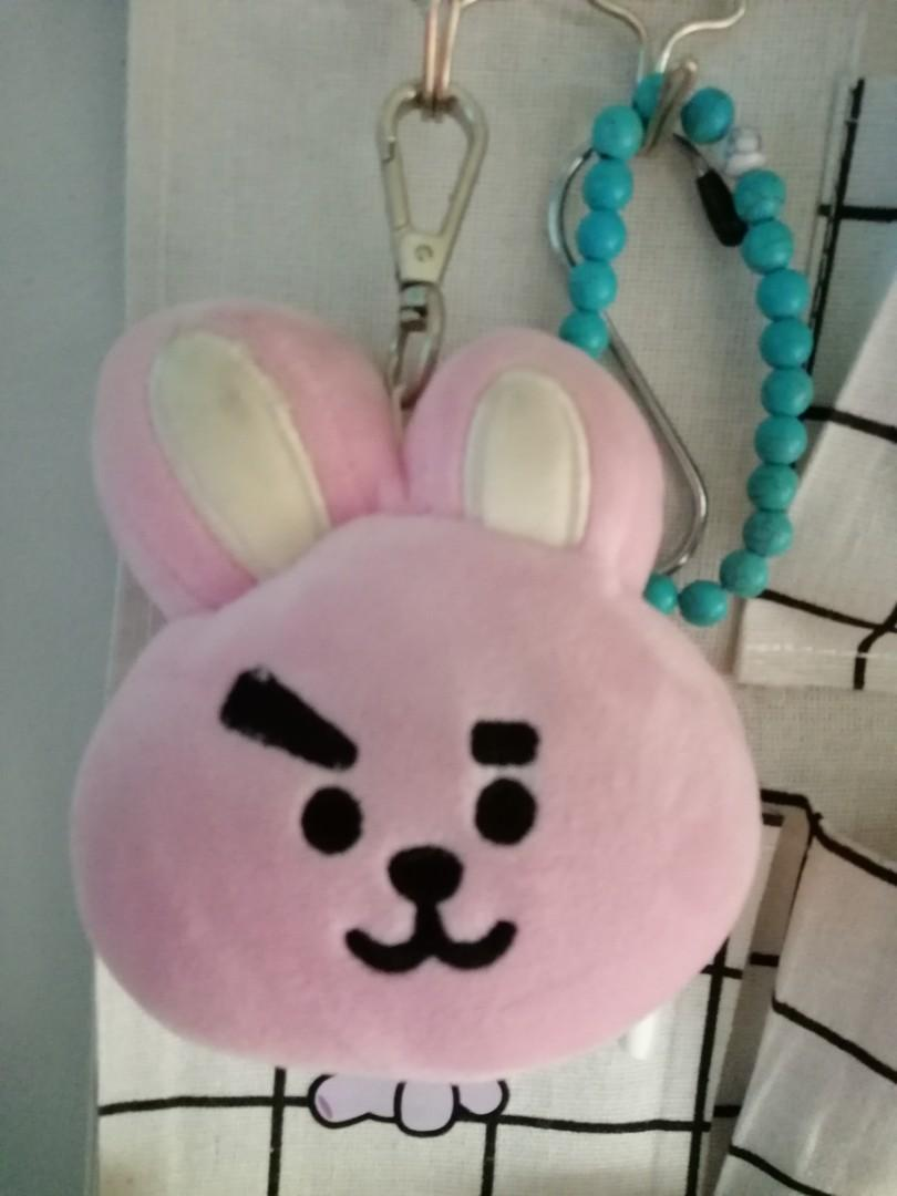 [WTS/READYSTOCK] UNOFFICIAL COOKY AND RJ PLUSH HEAD CHARM