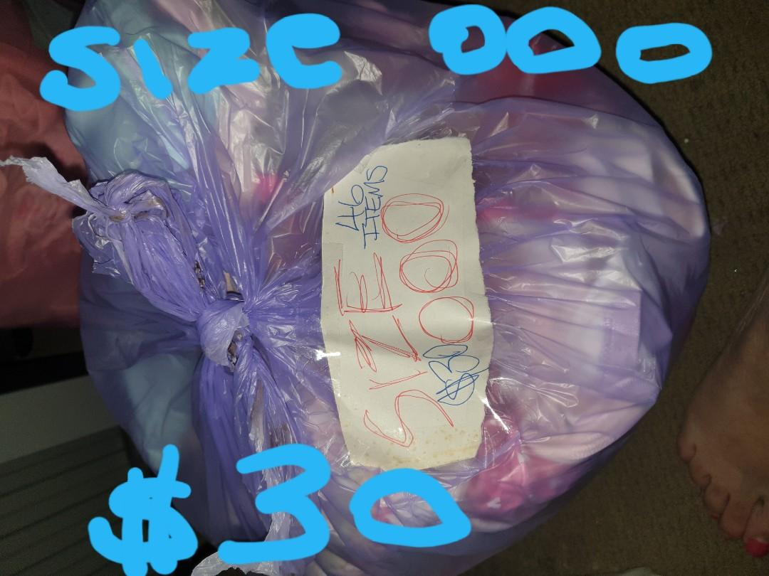 000 girls clothes .i have 2 bags each bag has mixed summer and winter clothes all gc selling for $30 each bag