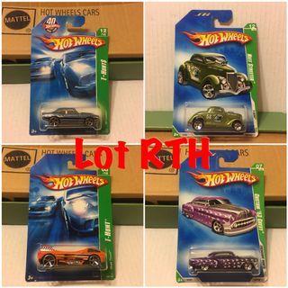 Hot Wheels Lot of 4 - Regular Treasure Hunt (RTH) '69 Camaro, Neet Streeter, Mega Thrust, Custom '53 Chevy