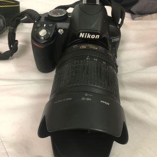Nikon D3100 with 18-105mm lens