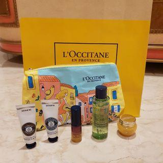 L'occitane travel size + pouch from 55ribu